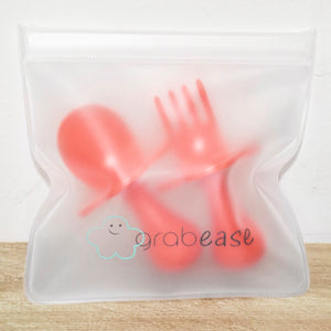 Orange Fork & Spoon Cutlery Set for Babies and Toddlers