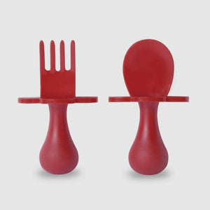 Red Fork & Spoon Cutlery Set for Babies & Toddlers