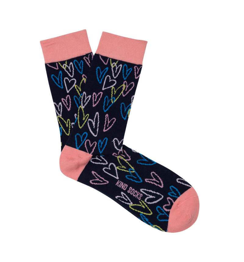 Heart Sock - Kind Socks, Socks - Socks, [product_material] - Organic Cotton