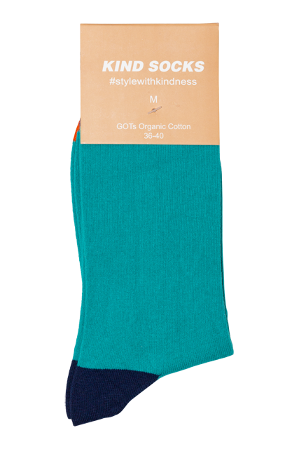 Essential (Green) - Kind Socks, Socks - Socks, [product_material] - Organic Cotton
