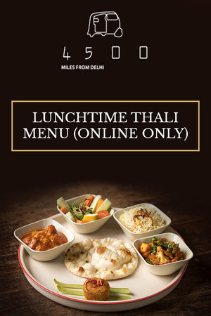 Lunchtime Thali Menu For Two