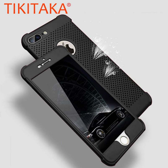 360 iPhone Case Honeycomb Back Cover Heat Dissipation Cooling Housing