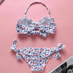 Single Shoulder Strap Bandeau Cheecky Bottom Bikini Florissa