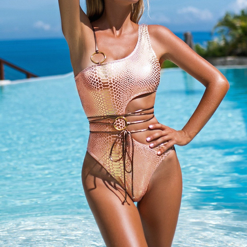 SHINY STRAPS ONE PIECE PATTI