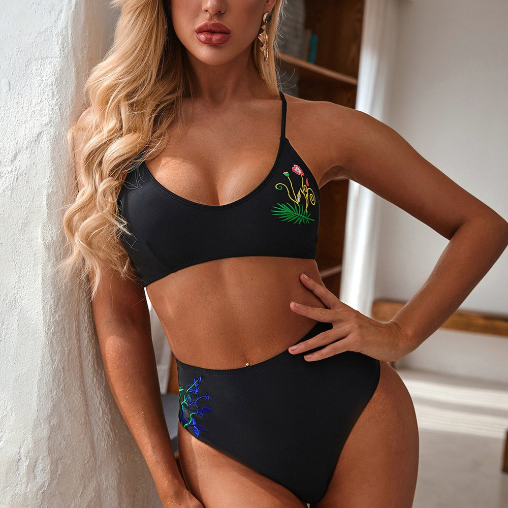 EMBROIDERY DETAILED BIKINI SHARI