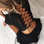 Cross Back Lace Crop Top Wide Shorts Two Piece Amber