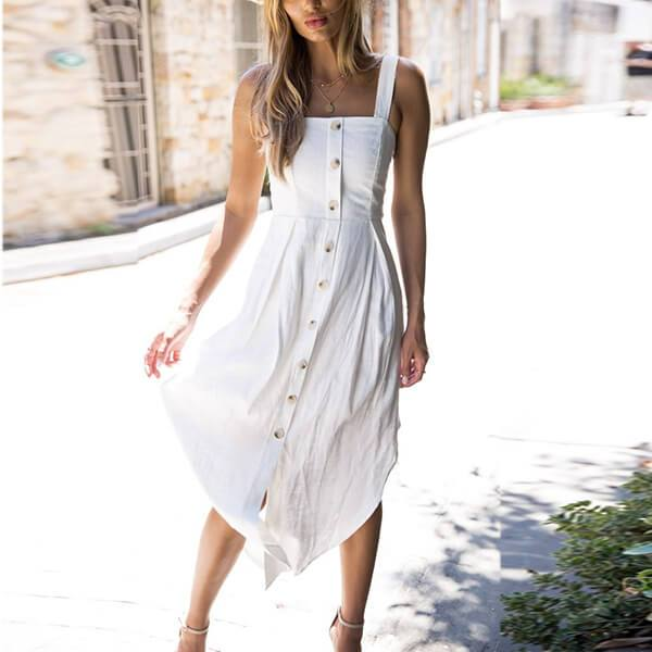 Simple Button Up Dress Savannah
