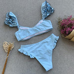 Frilled Details Contrasting Lid Bikini Catalina