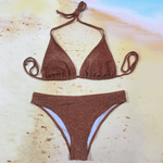 High Leg Triangle Sand Bikini