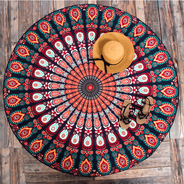 Boho Round Shape Colorful Towel Lia