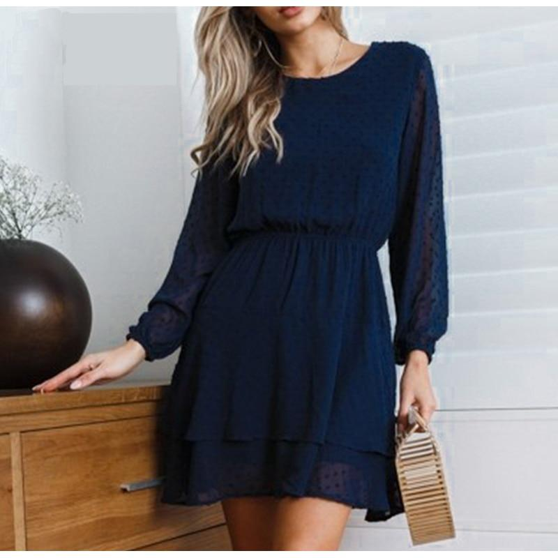LONG SLEEVED MINI DRESS