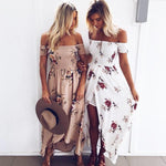 Chic Off Shoulder Cut Out Ribbed Floral Dress Dress Sam