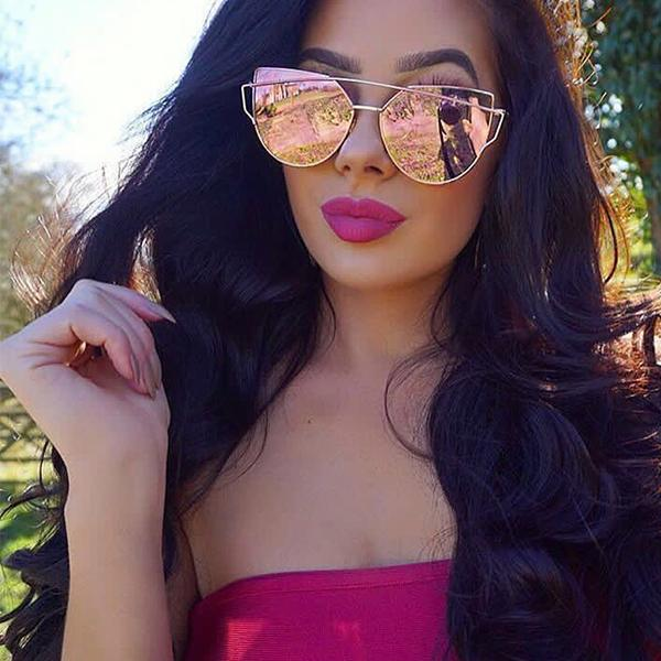 Original Cat eye Full Frame Mirror Sunglasses Lorena