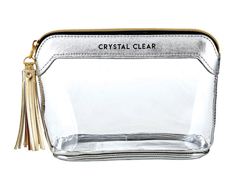 Clear Travel Pouch - Crystal Clear - Silver