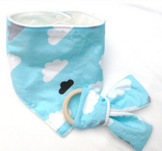 Teething Ring, Drool Bib & Bandana Set