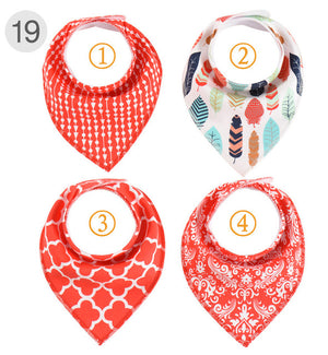 Bandana Bibs, 4pc Set