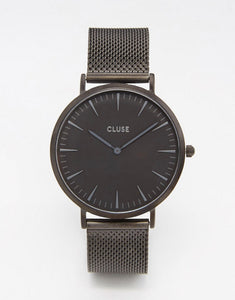 CLUSE La Boheme Black Mesh Watch