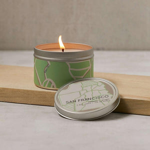 City Scapes Tin Candle