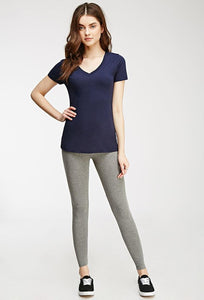 Grey Cotton Leggings
