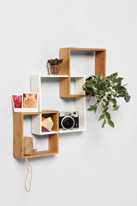 Bamboo Wall Shelf