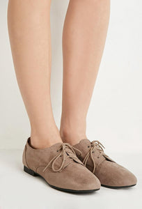 Faux Suede Oxfords