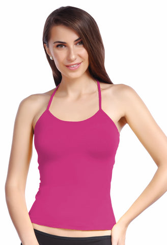 Strawberry Lenceria Halter Neck Camisole