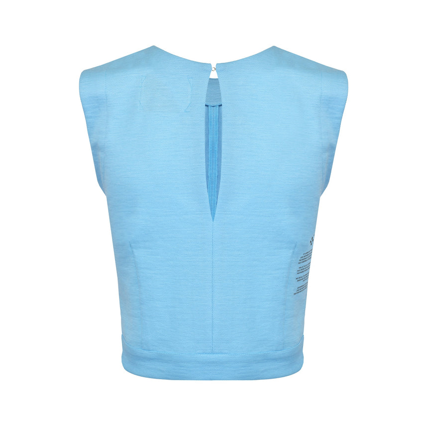 HEAVEN BLUE RAMIE TOP - LIMITED