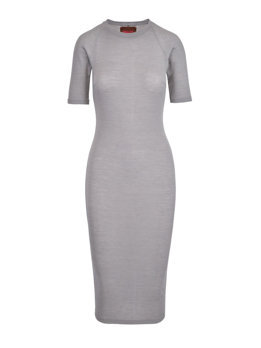 GREAT GREY SILK DRESS