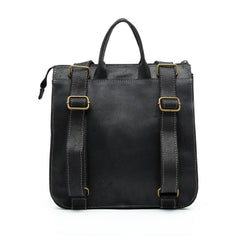 London - Midnight Black Medium Messenger, Leather Tote ,Black Leather Bag,  Crossbody Bag , Laptop Bag Women, Work Bag, Office Bag