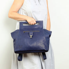 Blue Women's Messenger Bag, Genuine Leather Bag, Handmade Bag, Crossbody Bag, Everyday Bag, Office Bag, College Bag, Tote