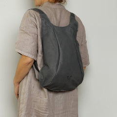 Gray Leather Backpack, Travel Backpack, School Bag, Turtle Backpacks, Backpack for Women,  Handmade Backpack, Italian Leather