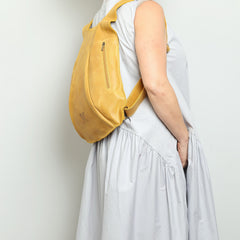 Yellow Leather Backpack, Travel Backpack, School Bag, Turtle Backpacks, Backpack for Women,  Handmade Backpack, Italian Leather