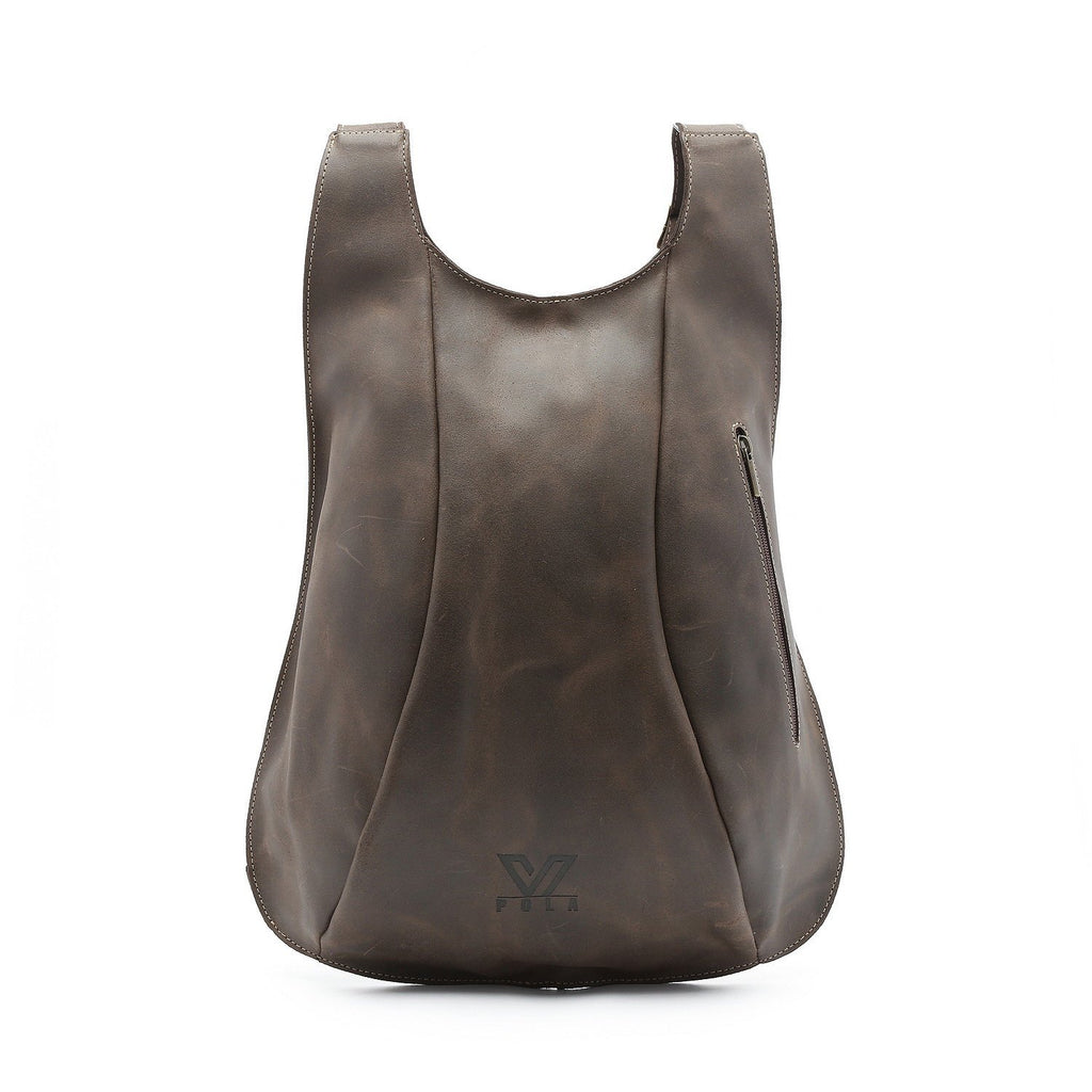 Brown Leather Backpack, Travel Backpack, School Bag, Turtle Backpacks, Backpack for Women,  Handmade Backpack, Italian Leather