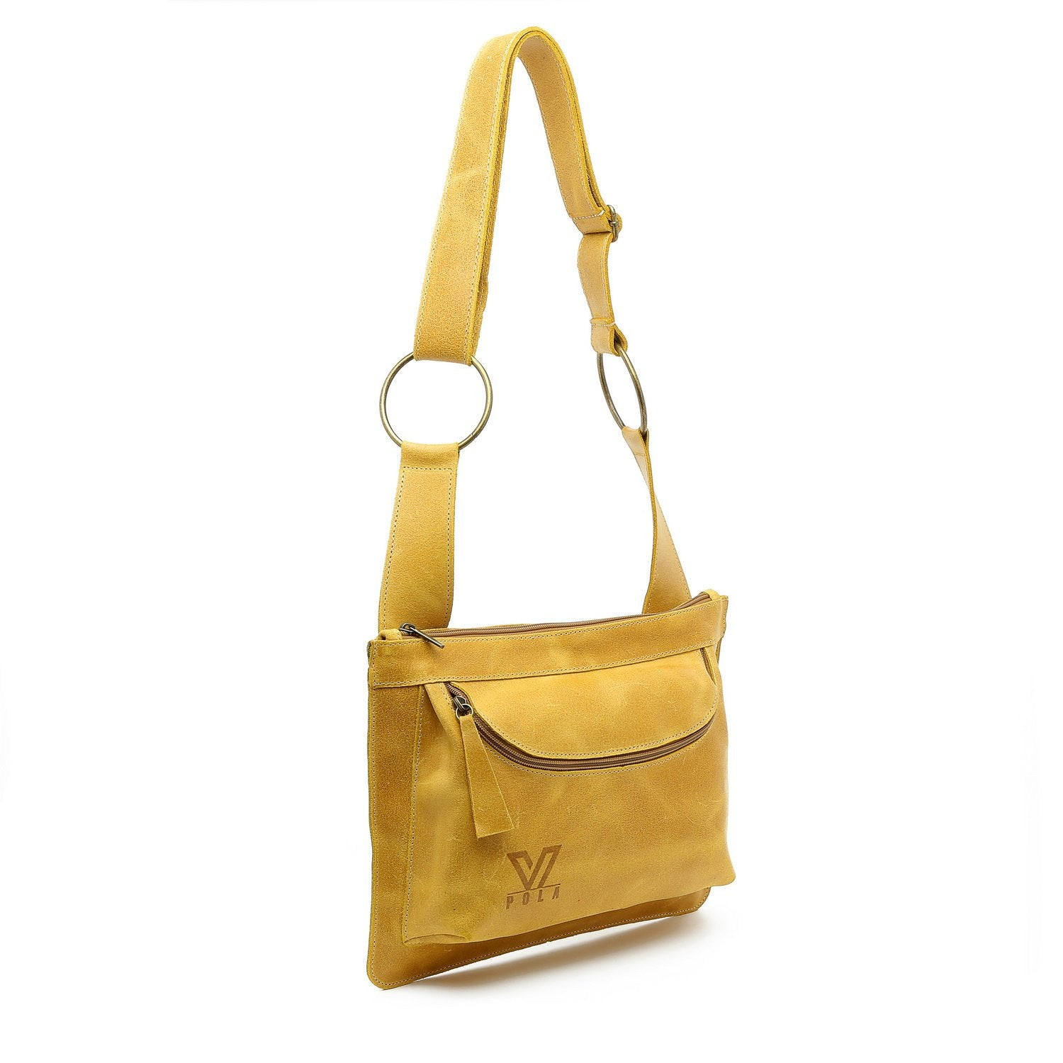 top quality favorable price sold worldwide Tel Aviv - Yellow mustered Leather Bag, Designer Bag, Crossbody Bag, iPad  Bag, Messenger Bag, Handmade Tote, Leather purse, Medium Travel Bag