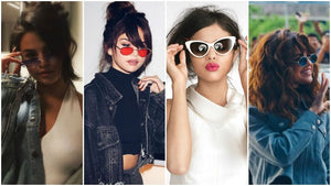 Retro Sunglasses with Selena Gomez