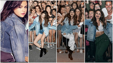 Denim Jackets with Selena Gomez