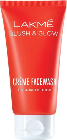 Lakme Blush and Glow Strawberry Extracts Creme Face Wash 100g