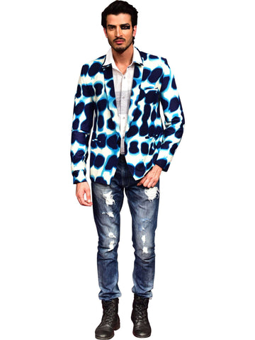 White Shirt With Printed Jacket  by Abhishek Dutta