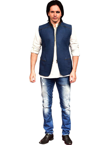 Blue Jacket With White Shirt  By Abhishek Dutta