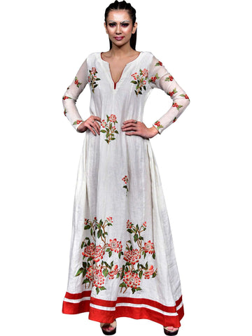 Long Embroidered Dress by : Abhishek Dutta - Wear.Style