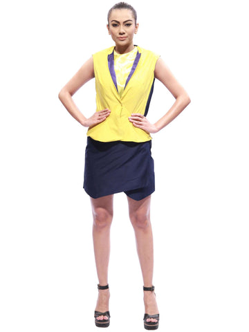 Flap Back Jacket And Rap Skirt by Abhinandana Shetty