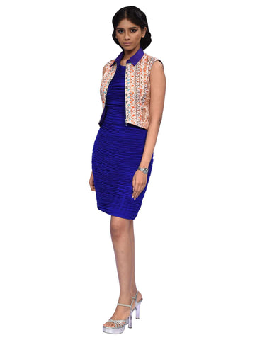 Persian Blue Knee Length Dress By Anita Nitin
