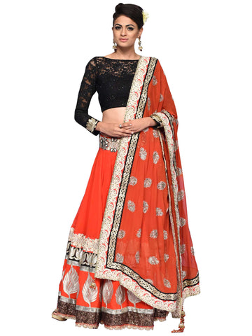 Dazzling Red Lehenga By Arun Dhall