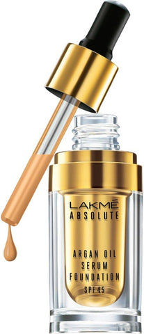 Ivory Cream Lakme Absolute Argan Oil Serum with SPF 45 Foundation