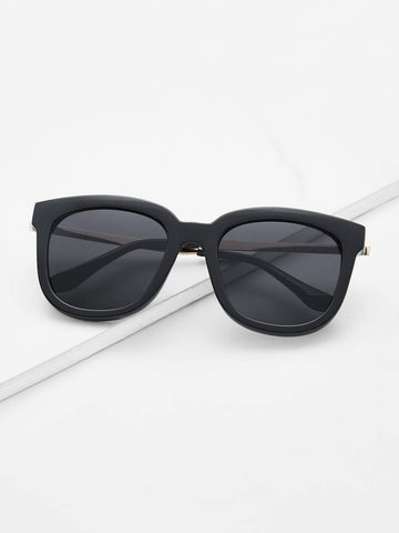 Retro Black Lenses Oversized Square Sunglasses