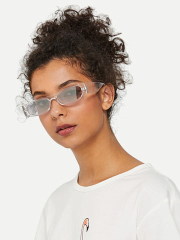 White Flat Top Sunglasses