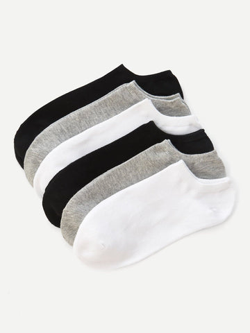 Plain Ankle Sock 6pairs