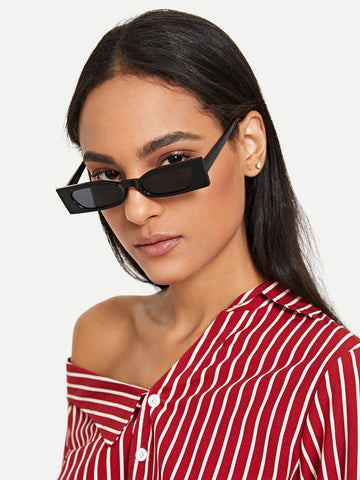 Black Plain Frame Sunglasses