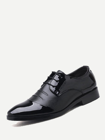 Black Lace Up Low Top Oxfords