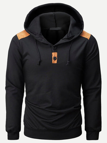 Long Sleeve Regular Fit Drawstring Detail Hooded Sweatshirt